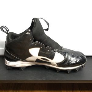 Under Armour black and white football cleats 11